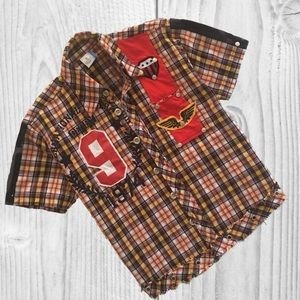 Other - Boy's Short Sleeve Button Down Casual Shirt Size 7